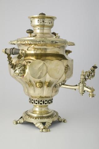 Самовар-ваза «С зеркальными овалами»