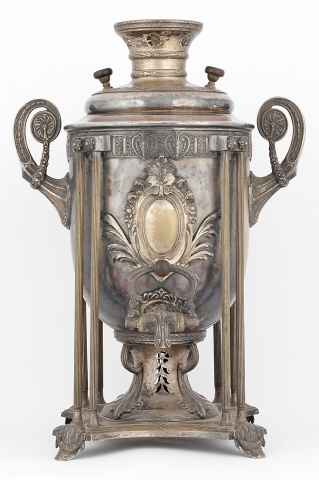 Самовар-ваза с вертикальными стойками