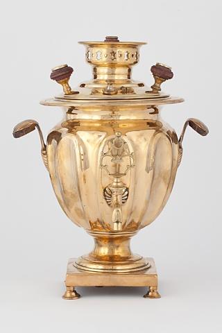 Самовар ваза с вогнутыми овалами