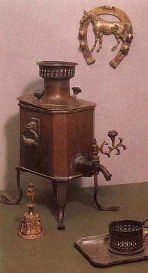 Travelling samovar. Early 19th cent.
