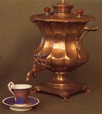 Vase-shaped samovar. Early 19th cent.