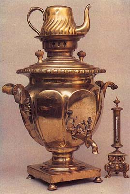 Vase-shaped samovar with ovals. Late 19th cent.