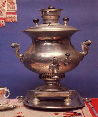"Vase-shaped samovar ""Turnip"". Late 19th cent."