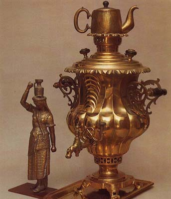 "Scaly vase-shaped samovar ""Rococo"". Late 19th cent."