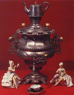 "Vase-shaped samovar ""Renascence"". Late 19th - early 20th cents."