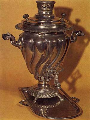 Screw-shaped samovar. The 1910's.